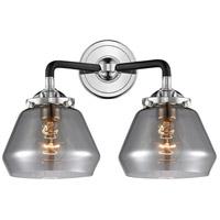 Innovations Lighting 284-2W-BPN-G173-LED Fulton LED 15 inch Black Polished Nickel Bath Vanity Light Wall Light Nouveau