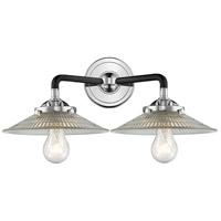 Innovations Lighting 284-2W-BPN-G2-LED Halophane LED 17 inch Black Polished Nickel Bath Vanity Light Wall Light Nouveau