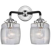 Innovations Lighting 284-2W-BPN-G302-LED Colton LED 14 inch Black Polished Nickel Bath Vanity Light Wall Light Nouveau