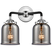Innovations Lighting 284-2W-BPN-G53-LED Small Bell LED 13 inch Black Polished Nickel Bath Vanity Light Wall Light Nouveau