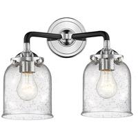 Innovations Lighting 284-2W-BPN-G54-LED Small Bell LED 13 inch Black Polished Nickel Bath Vanity Light Wall Light Nouveau
