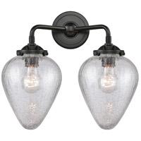 Innovations Lighting 284-2W-OB-G165-LED Geneseo LED 15 inch Oil Rubbed Bronze Bath Vanity Light Wall Light, Nouveau