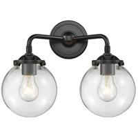 Innovations Lighting 284-2W-OB-G202-6-LED Beacon LED 14 inch Oil Rubbed Bronze Bath Vanity Light Wall Light Nouveau
