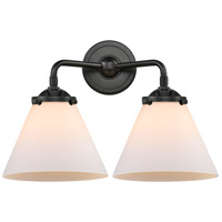 Innovations Lighting 284-2W-OB-G41-LED Large Cone LED 16 inch Oil Rubbed Bronze Bath Vanity Light Wall Light Nouveau