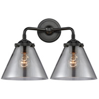 Innovations Lighting 284-2W-OB-G43 Large Cone 2 Light 16 inch Oil Rubbed Bronze Bath Vanity Light Wall Light Nouveau