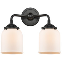 Innovations Lighting 284-2W-OB-G51-LED Small Bell LED 13 inch Oil Rubbed Bronze Bath Vanity Light Wall Light, Nouveau