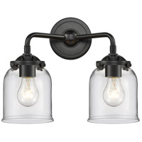 Innovations Lighting 284-2W-OB-G52-LED Small Bell LED 13 inch Oil Rubbed Bronze Bath Vanity Light Wall Light Nouveau