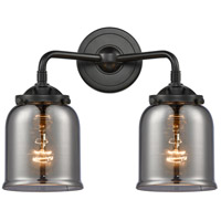 Innovations Lighting 284-2W-OB-G53-LED Small Bell LED 13 inch Oil Rubbed Bronze Bath Vanity Light Wall Light Nouveau