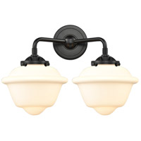 Innovations Lighting 284-2W-OB-G531-LED Small Oxford LED 16 inch Oil Rubbed Bronze Bath Vanity Light Wall Light Nouveau