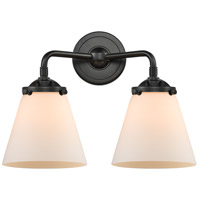 Innovations Lighting 284-2W-OB-G61-LED Small Cone LED 14 inch Oil Rubbed Bronze Bath Vanity Light Wall Light Nouveau
