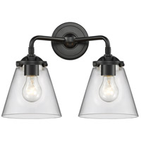 Innovations Lighting 284-2W-OB-G62 Small Cone 2 Light 14 inch Oil Rubbed Bronze Bath Vanity Light Wall Light Nouveau