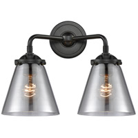 Innovations Lighting 284-2W-OB-G63-LED Small Cone LED 14 inch Oil Rubbed Bronze Bath Vanity Light Wall Light Nouveau