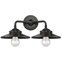 Innovations Lighting 284-2W-OB-M5-OB-LED Railroad LED 16 inch Oil Rubbed Bronze Bath Vanity Light Wall Light Nouveau