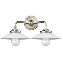 Innovations Lighting 284-2W-SN-G1 Halophane 2 Light 17 inch Satin Nickel Bath Vanity Light Wall Light Nouveau