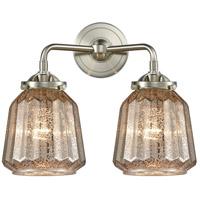 Innovations Lighting 284-2W-SN-G146 Chatham 2 Light 14 inch Satin Nickel Bath Vanity Light Wall Light Nouveau