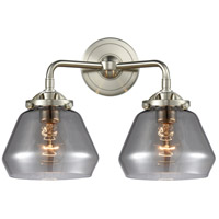 Innovations Lighting 284-2W-SN-G173-LED Fulton LED 15 inch Satin Nickel Bath Vanity Light Wall Light Nouveau