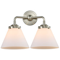 Innovations Lighting 284-2W-SN-G41-LED Large Cone LED 16 inch Satin Nickel Bath Vanity Light Wall Light Nouveau