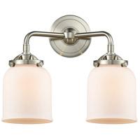 Innovations Lighting 284-2W-SN-G51-LED Small Bell LED 13 inch Satin Nickel Bath Vanity Light Wall Light Nouveau