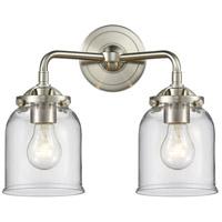 Innovations Lighting 284-2W-SN-G52 Small Bell 2 Light 13 inch Satin Nickel Bath Vanity Light Wall Light Nouveau