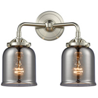 Innovations Lighting 284-2W-SN-G53-LED Small Bell LED 13 inch Satin Nickel Bath Vanity Light Wall Light Nouveau