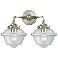 Innovations Lighting 284-2W-SN-G532-LED Small Oxford LED 16 inch Satin Nickel Bath Vanity Light Wall Light, Nouveau
