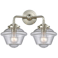 Innovations Lighting 284-2W-SN-G534-LED Small Oxford LED 16 inch Satin Nickel Bath Vanity Light Wall Light Nouveau