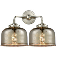 Innovations Lighting 284-2W-SN-G78 Large Bell 2 Light 16 inch Satin Nickel Bath Vanity Light Wall Light Nouveau