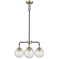Innovations Lighting 284-3CH-BAB-G204 Baldwin 3 Light 20 inch Black and Antique Brass Chandelier Ceiling Light