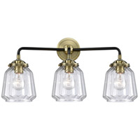 Innovations Lighting 284-3W-BAB-G142 Chatham 3 Light 24 inch Black Antique Brass Bath Vanity Light Wall Light Nouveau