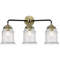 Innovations Lighting 284-3W-BAB-G184-LED Canton LED 24 inch Black Antique Brass Bath Vanity Light Wall Light Nouveau