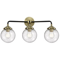 Innovations Lighting 284-3W-BAB-G204-6 Beacon 3 Light 24 inch Black Antique Brass Bathroom Fixture Wall Light