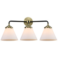 Innovations Lighting 284-3W-BAB-G41 Large Cone 3 Light 26 inch Black Antique Brass Bath Vanity Light Wall Light Nouveau