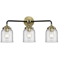 Innovations Lighting 284-3W-BAB-G52 Small Bell 3 Light 23 inch Black Antique Brass Bath Vanity Light Wall Light, Nouveau photo thumbnail
