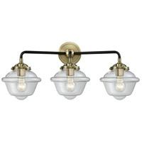 Innovations Lighting 284-3W-BAB-G532-LED Small Oxford LED 26 inch Black Antique Brass Bath Vanity Light Wall Light Nouveau