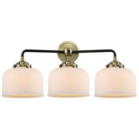 Innovations Lighting 284-3W-BAB-G71 Large Bell 3 Light 26 inch Black Antique Brass Bath Vanity Light Wall Light Nouveau