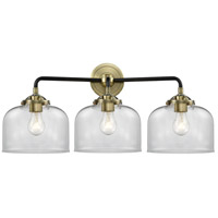 Innovations Lighting 284-3W-BAB-G72 Large Bell 3 Light 26 inch Black Antique Brass Bath Vanity Light Wall Light Nouveau