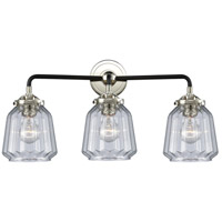 Innovations Lighting 284-3W-BPN-G142 Chatham 3 Light 24 inch Black Polished Nickel Bath Vanity Light Wall Light Nouveau