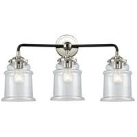 Innovations Lighting 284-3W-BPN-G182 Canton 3 Light 24 inch Black Polished Nickel Bath Vanity Light Wall Light Nouveau
