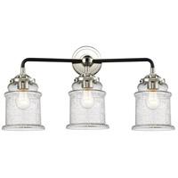 Innovations Lighting 284-3W-BPN-G184 Canton 3 Light 24 inch Black Polished Nickel Bath Vanity Light Wall Light Nouveau