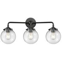 Innovations Lighting 284-3W-OB-G202-6-LED Beacon LED 24 inch Oil Rubbed Bronze Bath Vanity Light Wall Light Nouveau