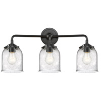 Innovations Lighting 284-3W-OB-G54-LED Small Bell LED 23 inch Oil Rubbed Bronze Bath Vanity Light Wall Light Nouveau