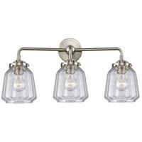 Innovations Lighting 284-3W-SN-G142 Chatham 3 Light 24 inch Satin Nickel Bath Vanity Light Wall Light Nouveau