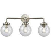 Innovations Lighting 284-3W-SN-G202-6-LED Beacon LED 24 inch Satin Nickel Bath Vanity Light Wall Light Nouveau