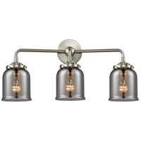 Innovations Lighting 284-3W-SN-G53-LED Small Bell LED 23 inch Satin Nickel Bath Vanity Light Wall Light Nouveau