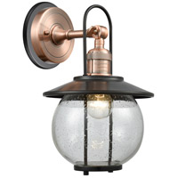 Innovations Lighting 303BP-1W-AC-BK-LED Allium 1 Light 13 inch Antique Copper Outdoor Wall Sconce