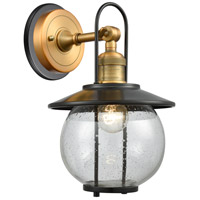 Innovations Lighting 303BP-1W-BB-BK-LED Allium 1 Light 13 inch Brushed Brass Outdoor Wall Sconce