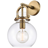 Innovations Lighting 410-1W-BB-8CL Newton 1 Light 8 inch Brushed Brass Sconce Wall Light, Restoration photo thumbnail