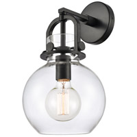Innovations Lighting 410-1W-BK-8CL Newton 1 Light 8 inch Matte Black Sconce Wall Light Restoration