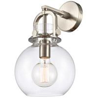 Innovations Lighting 410-1W-SN-8CL Newton 1 Light 8 inch Brushed Satin Nickel Sconce Wall Light Restoration