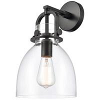 Innovations Lighting 412-1W-BK-8CL-LED Newton LED 8 inch Matte Black Sconce Wall Light Restoration